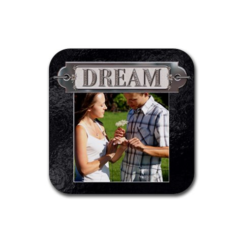Dream Coaster By Lil    Rubber Coaster (square)   Fcaviks0ja45   Www Artscow Com Front