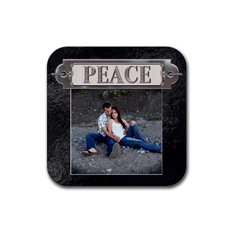 Peace Coaster By Lil    Rubber Coaster (square)   1e11mwonpcl0   Www Artscow Com Front