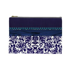 Blue  Cosmetic Bag By Florence Yeung   Cosmetic Bag (large)   Quim56fims5f   Www Artscow Com Front
