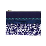 Blue  Cosmetic Bag - Cosmetic Bag (Large)