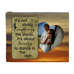 Dance In The Rain Xl Cosmetic Bag By Lil    Cosmetic Bag (xl)   E3g95wtkhqex   Www Artscow Com Front