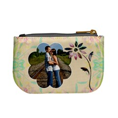 Pretty Floral Mini Coin Purse By Lil    Mini Coin Purse   Zx7m2ptf6n5y   Www Artscow Com Back