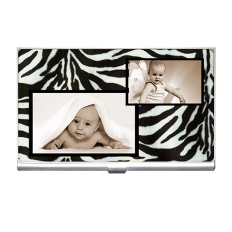 Classic Zebrao Business Card Holder By Catvinnat   Business Card Holder   E2xta47cehw1   Www Artscow Com Front