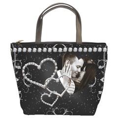 Diamond Studded Love Bucket Bag By Lil    Bucket Bag   Dkjm0orb3971   Www Artscow Com Front