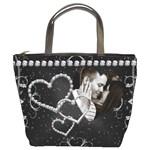 Diamond Studded Love Bucket Bag