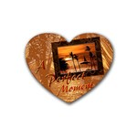 heart coaster22 perfect moment - Rubber Coaster (Heart)