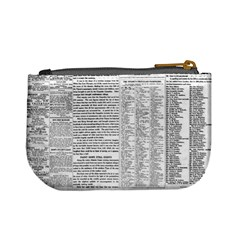 Newspaper Coin Purse By Jorge   Mini Coin Purse   Cq3oybs3uzir   Www Artscow Com Back
