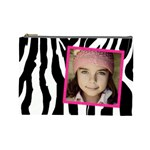 Zebra cosmetic bag - Cosmetic Bag (Large)