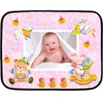 Blankie Bunny lavendar love Baby Mini Fleece - Fleece Blanket (Mini)