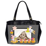100% love almost black blankie baby oversized diaper bag - Oversize Office Handbag (2 Sides)