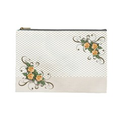 Cosmetic Bag (large)    Flowers3 By Jennyl   Cosmetic Bag (large)   Muu2vb3vc09q   Www Artscow Com Front
