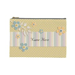 Cosmetic Bag (large)    Flowers4 By Jennyl   Cosmetic Bag (large)   Cju2bza1l4gj   Www Artscow Com Front