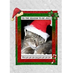 Tis The Season Christmas Card By Lil    Greeting Card 5  X 7    V46luer6p24o   Www Artscow Com Front Cover