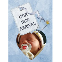 Baby Boy Arrival Card By Lil    Greeting Card 5  X 7    Ljnlrpxwqdiy   Www Artscow Com Front Cover