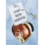 Baby Boy Arrival Card - Greeting Card 5  x 7