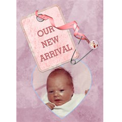 Baby Girl Arrival Card By Lil    Greeting Card 5  X 7    Go1owddwj2li   Www Artscow Com Front Cover