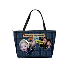 Blue Family Shoulder Handbag By Lil    Classic Shoulder Handbag   9sb8qk2sdokd   Www Artscow Com Back