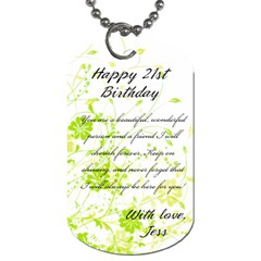 Lyn By Jess   Dog Tag (two Sides)   Qcar93onjych   Www Artscow Com Back