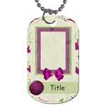 Glorious Spring Floral Dog Tag - Dog Tag (One Side)