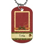 Framing Autumn Acorn Dog Tag - Dog Tag (One Side)