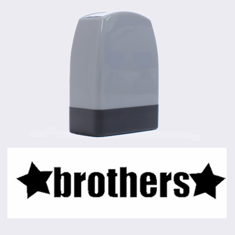 Brothers Stamp  By Amanda Bunn   Name Stamp   Rwmo902619j3   Www Artscow Com 1.4 x0.5  Stamp