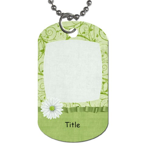 Summer Breeze Swirl Dog Tag By Bitsoscrap   Dog Tag (one Side)   8cnrgacsa86c   Www Artscow Com Front