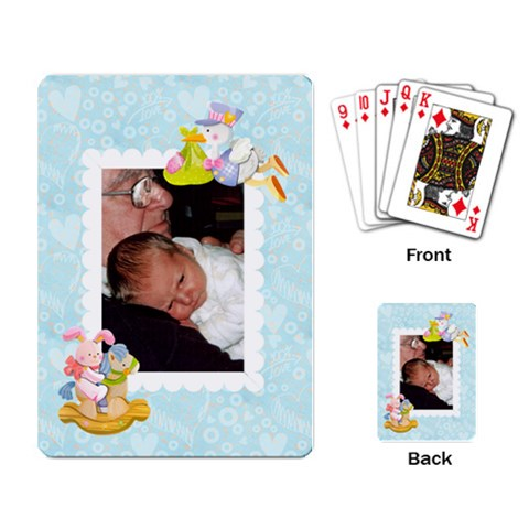 Special Delivery Baby Cards Boy By Catvinnat   Playing Cards Single Design   Iexpghqh1kzk   Www Artscow Com Back