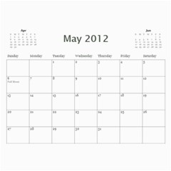 2011/07 2012/12 General By Cure   Wall Calendar 11  X 8 5  (18 Months)   5zwk0uf2d5bb   Www Artscow Com May 2012