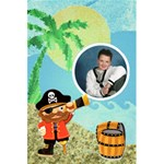 Pirate Pete Notebook - 5.5  x 8.5  Notebook