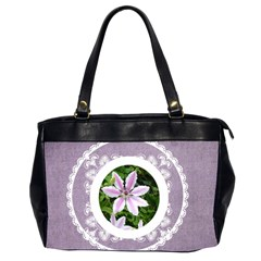 Lacy Lady Lavendar Oversized Office Bag By Catvinnat   Oversize Office Handbag (2 Sides)   E7cujffl0te3   Www Artscow Com Front