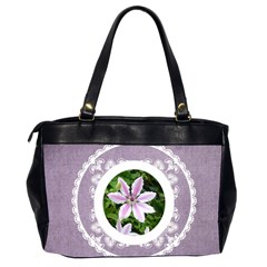 Lacy Lady Lavendar Oversized Office Bag By Catvinnat   Oversize Office Handbag (2 Sides)   E7cujffl0te3   Www Artscow Com Back