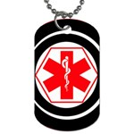 Medic Alert Dog Tag 2a to customise the reverse with your text - Dog Tag (Two Sides)