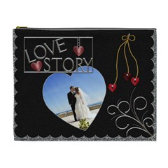 Love Story Xl Cosmetic Bag By Lil    Cosmetic Bag (xl)   Omso60m6i7jm   Www Artscow Com Front