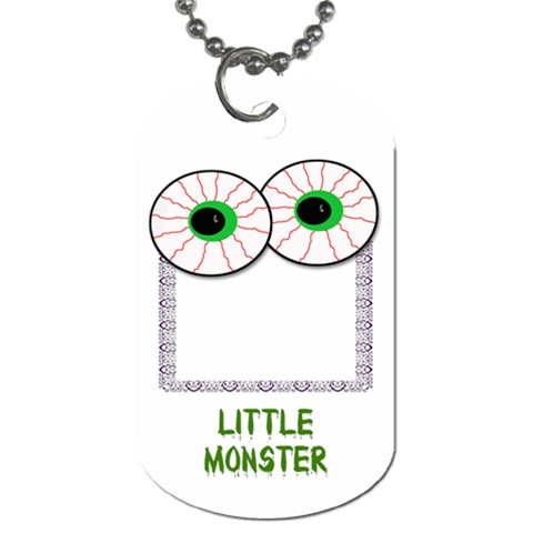 Monster Tag By Amanda Bunn   Dog Tag (one Side)   4vo64tmuamgq   Www Artscow Com Front