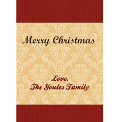 Family & Friends 5x7 Christmas Card By Klh   Greeting Card 5  X 7    40sf3yppuedm   Www Artscow Com Back Inside