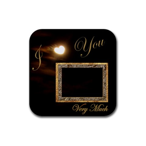 Heart Coaster1 Square  By Ellan   Rubber Coaster (square)   Jp5l1wjbvqll   Www Artscow Com Front