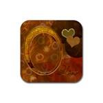 Heart coaster 42 Square  - Rubber Coaster (Square)