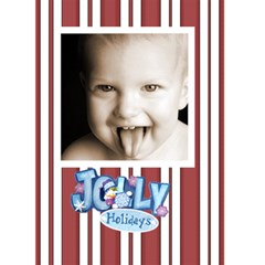 Jolly Holidays 2 Christmas Card By Catvinnat   Greeting Card 5  X 7    Rzodjtuvim33   Www Artscow Com Front Cover