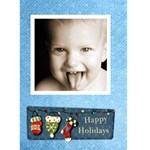 Happy holidays 2 Christmas Card - Greeting Card 5  x 7