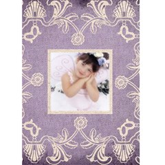Purple Lace Christmas Card By Catvinnat   Greeting Card 5  X 7    M5yklvwdm3rx   Www Artscow Com Front Cover