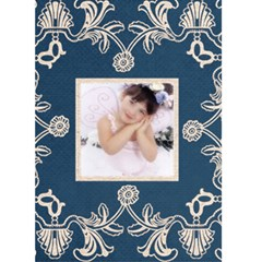 Midnight Blue Lace Christmas Card By Catvinnat   Greeting Card 5  X 7    Kbd0qktg34am   Www Artscow Com Front Cover