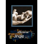 Jingle Bells Christmas card - Greeting Card 5  x 7