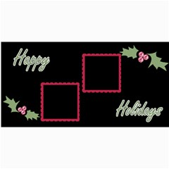 Holly Christmas Card By Martha Meier   4  X 8  Photo Cards   4x5fhgjrckep   Www Artscow Com 8 x4 Photo Card - 4