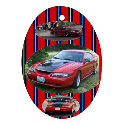 Mustang By Sue Wells   Ornament (oval)   Xce5esu81ggy   Www Artscow Com Front