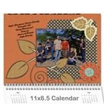 Family Calendar 2011 - Wall Calendar 11  x 8.5  (12-Months)
