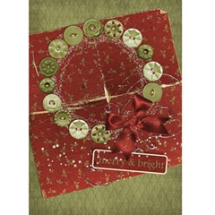 Holiday Card, Wreath By Mikki   Greeting Card 5  X 7    2gy667g1ksrt   Www Artscow Com Front Cover