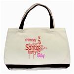 santa babypink frame festive Tote bag - Basic Tote Bag (Two Sides)
