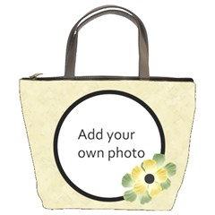 Tan Floral Bucket Bag By Jen   Bucket Bag   73zw51kgbex1   Www Artscow Com Front