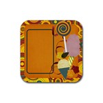 Sweet Harvest Candy Coaster - Rubber Coaster (Square)