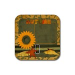 Sweet Harvest Sunflower Coaster - Rubber Coaster (Square)